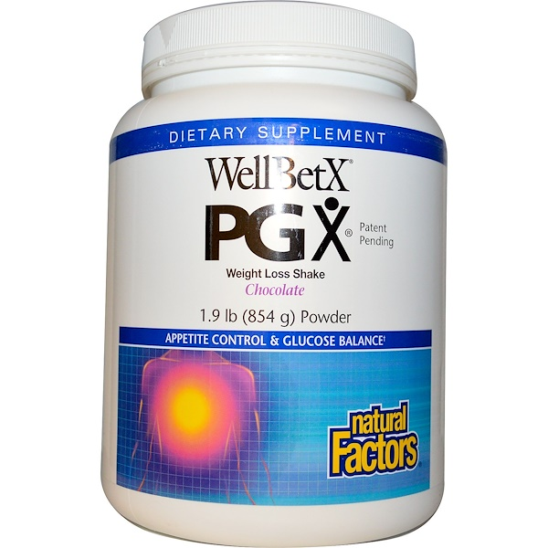 Natural Factors Wellbetx Pgx Weight Loss Shake Chocolate Powder