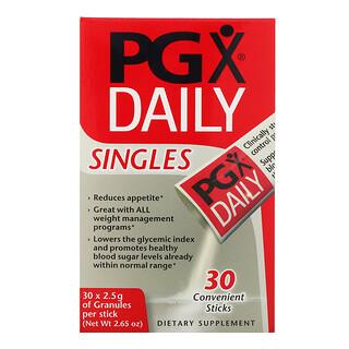 Natural Factors, PGX Täglich, Singles, Geschmackloses Granulat, 30 Sticks, je 2,5 g