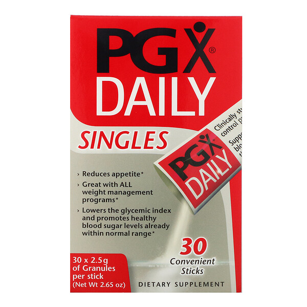 PGX Daily, Singles, Unflavored Granules, 30 Sticks, (2.5 g) Each