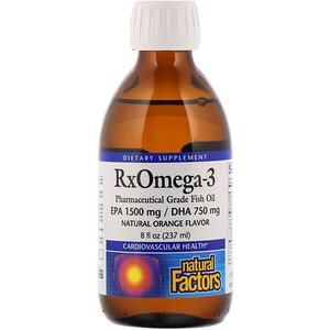 Натурал Факторс, Rx Omega-3, Natural Orange Flavor, 8 fl oz (237 ml) отзывы покупателей