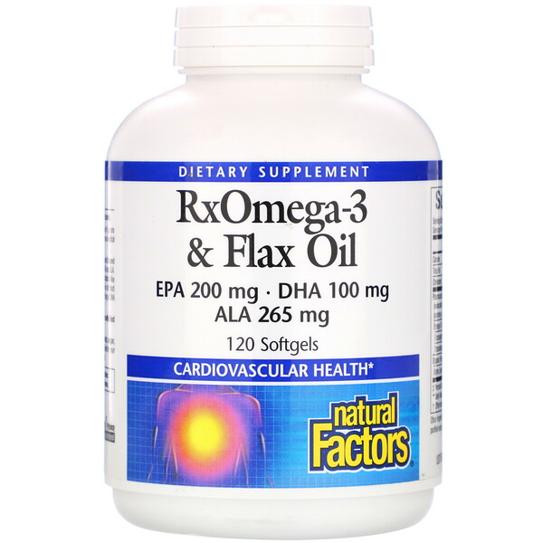 Natural Factors, RxOmega-3 &Flax Oil,120粒軟膠囊