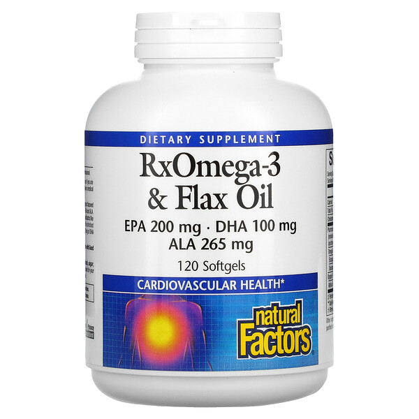 RxOmega-3 & Flax Oil, 120 Softgels