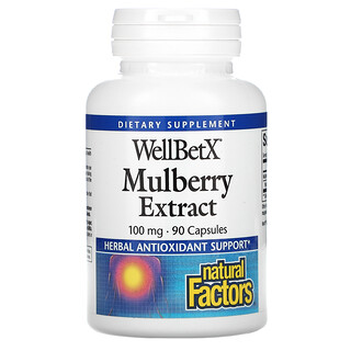 Natural Factors, WellBetX, Mulberry Extract, 100 mg, 90 Capsules