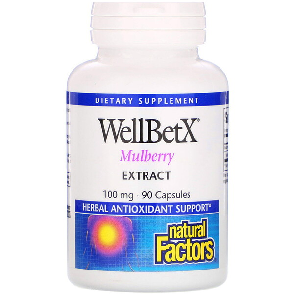 Natural Factors, WellBetX, Extrato de amora, 100 mg, 90 cápsulas
