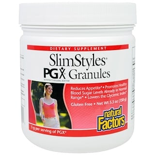 Natural Factors, SlimStyles, Grãos PGX, Sem Sabor, 5,3 oz (150 g)