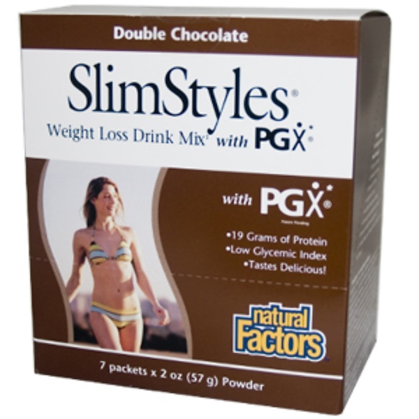 Natural Factors Slimstyles Weight Loss Drink Mix With Pgx Double