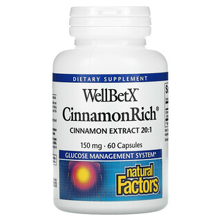 Natural Factors, WellBetX, CinnamonRich, 150 mg, 60 Capsules