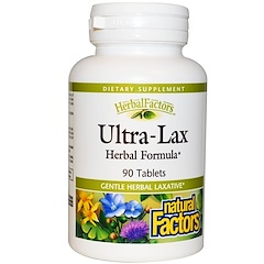 Natural Factors, Ultra-Lax, Herbal Formula, 90 Tablets