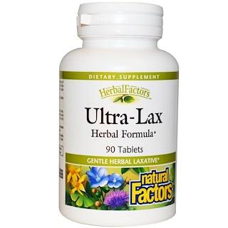 Natural Factors, ألترا-لاكس، تركيبة عشبية، 90 حبة