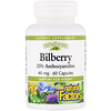 Natural Factors, Bilberry, 40 mg, 60 Capsules