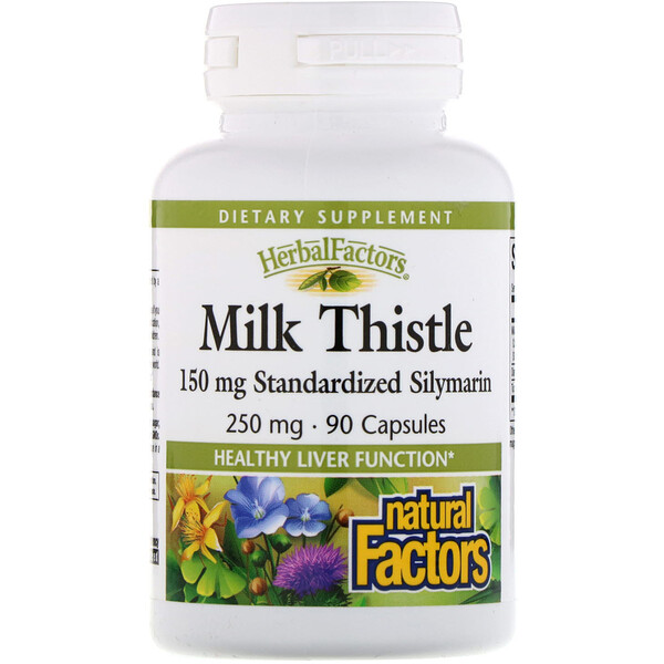 Natural Factors, Milk Thistle, 250 mg, 90 Capsules