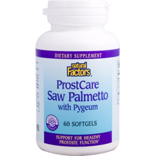 Natural Factors, ProstCare Saw Palmetto with Pygeum, 60 Softgels (Discontinued Item)