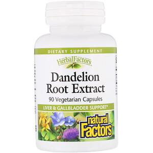 Натурал Факторс, Dandelion Root Extract, 90 Vegetarian Capsules отзывы