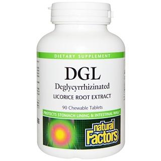Natural Factors, Глицирризинат корня солодки, 90 жевательных таблеток