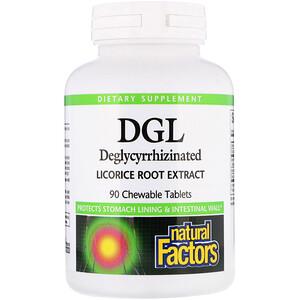 Натурал Факторс, DGL, Deglycyrrhizinated Licorice Root Extract, 90 Chewable Tablets отзывы