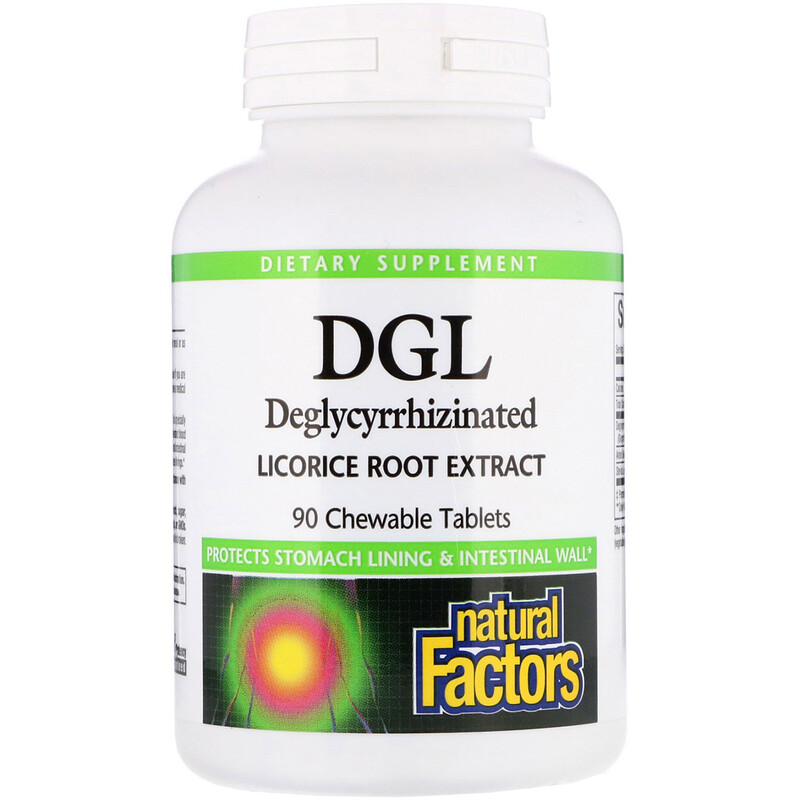 DGL, Deglycyrrhizinated Licorice Root Extract, 90 Chewable Tablets