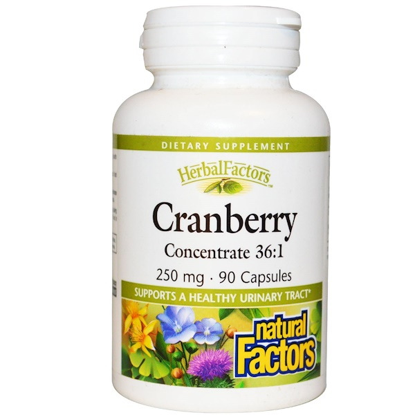 Natural Factors, Cranberry Concentrate 36:1, 250 mg, 90 Capsules (Discontinued Item)