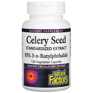 Natural Factors, Celery Seed 85% 3-n-Butylphthalide, 120 Vegetarian Capsules