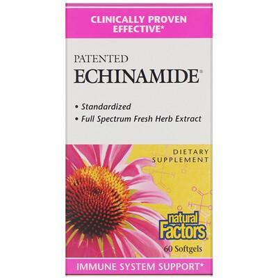 Купить Natural Factors Echinamide, запатентованная добавка, 60 капсул