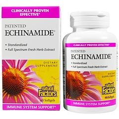 Natural Factors, Echinamide, 60 мягких табеток