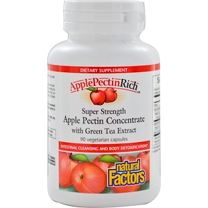 Натурал Факторс, Apple Pectin Concentrate, Super Strength , 90 Vegetarian Capsules отзывы покупателей