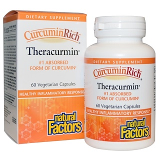 Natural Factors, CurcuminRich 薑黃素,Theracurmin,60 粒素食膠囊