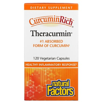 Natural Factors CurcuminRich, Theracurmin, 120 Vegetarian Capsules