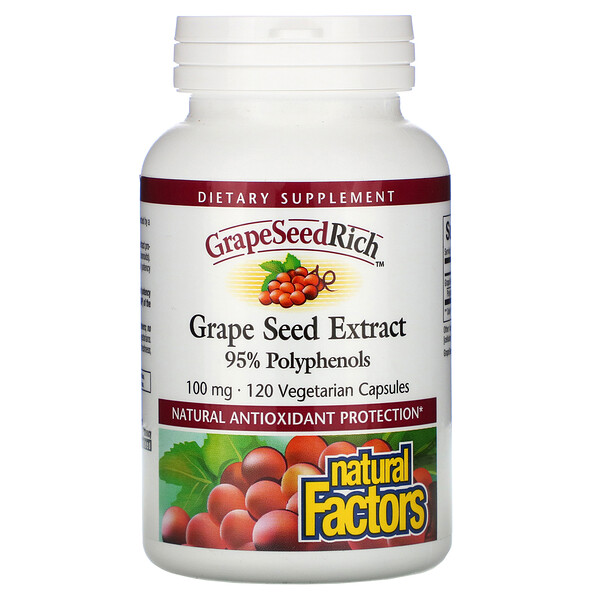 GrapeSeedRich, Grape Seed Extract, 100 mg, 120 Vegetarian Capsules