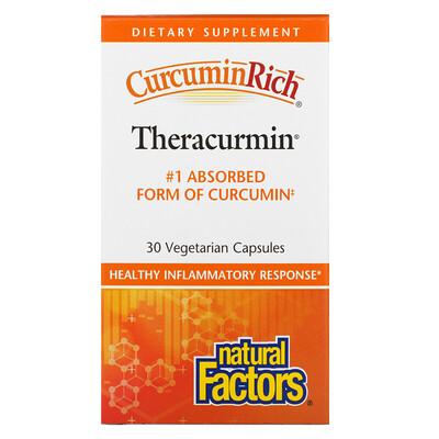 Купить Natural Factors CurcuminRich, Theracurmin, 30 Vegetarian Capsules