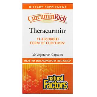 Natural Factors, CurcuminRich, Theracurmin, 30 Vegetarian Capsules