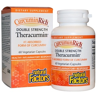 Natural Factors, CurcuminRich, Double Strength Theracurmin, 60 Veggie Caps