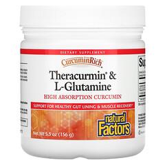 Natural Factors, CurcuminRich、Theracurmin 和 L-穀氨醯胺,5.5 盎司(156 克)