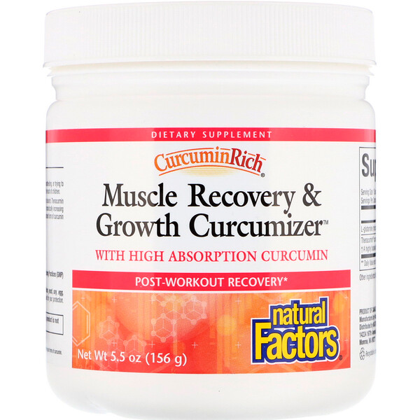 Natural Factors, CurcuminRich, Muscle Recovery & Growth Curcumizer, 5.5 oz (156 g) (Discontinued Item)