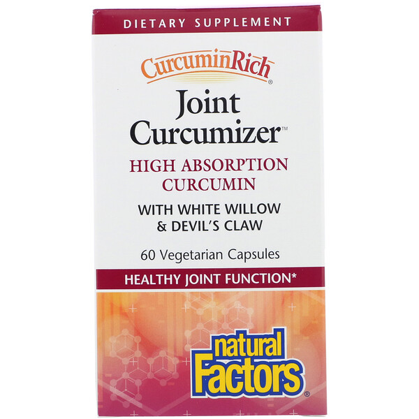 Natural Factors, CurcuminRich, Joint Curcumizer, 60 cápsulas vegetarianas