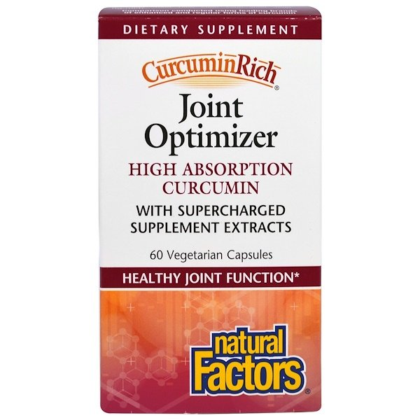 Natural Factors, CurcuminRich, Joint Curcumizer, 60 Vegetarian Capsules