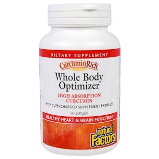 Natural Factors, CurcuminRich, Whole Body Optimizer, 60 Softgels