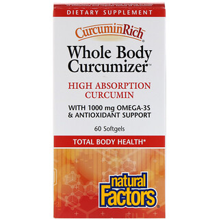 Natural Factors, CurcuminRich, Whole Body Curcumizer, 60 Softgels