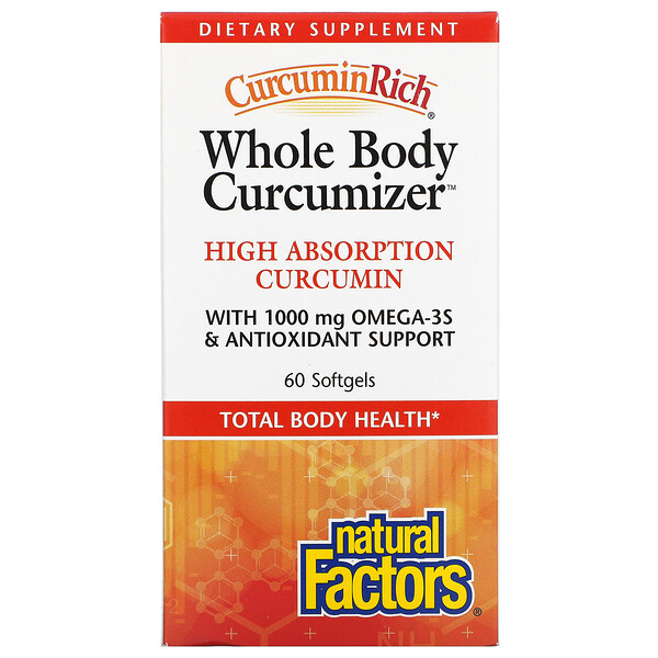 CurcuminRich, Whole Body Curcumizer, 60 Softgels