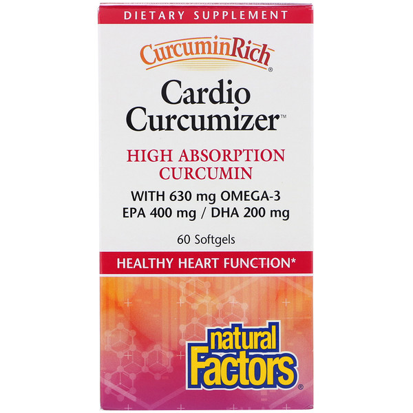 Natural Factors, CurcuminRich, Cardio Curcumizer, 60 Softgels (Discontinued Item)