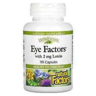 Natural Factors, Factores para Ojos con 2 mg Luteína, 90 Cápsulas