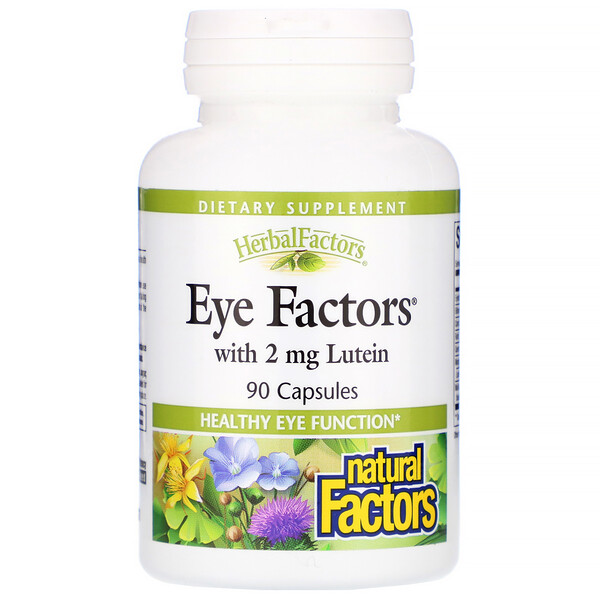 Natural Factors, Eye Factors、ルテイン2 mg配合、90粒
