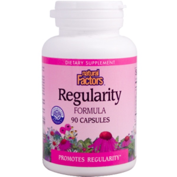 Natural Factors, Regularity Formula, 90 Capsules (Discontinued Item)