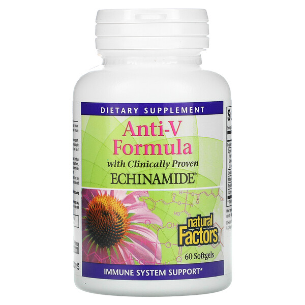 Anti-V Formula, with Clinically Proven Echinamide, 60 Softgels