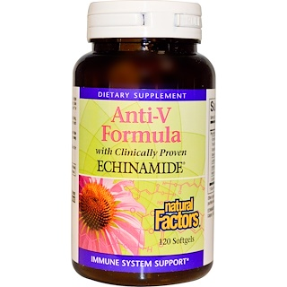 Natural Factors, Anti-V Formula, with Clinically Proven Echinamide, 120 Softgels