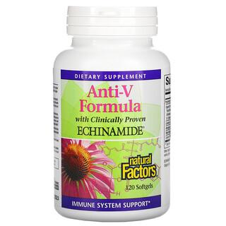Natural Factors, Anti-V Formula, with Clinically Proven Echinamide, 120 Softgels