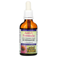 Natural Factors, 抗 V 配方,含科學證明紫錐菊,1.7 液量盎司(50 毫升)