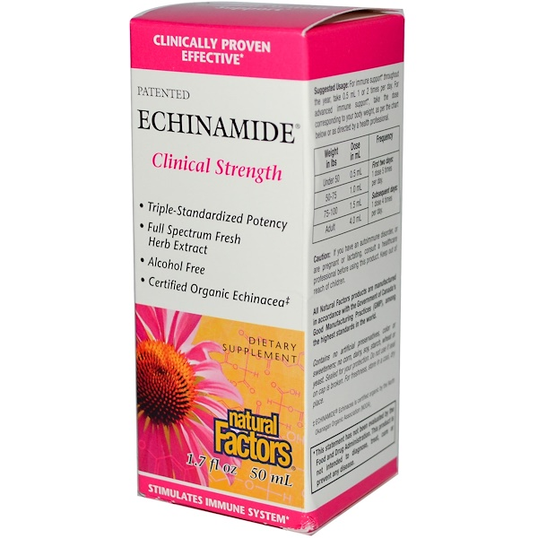 Natural Factors, Echinamide Clinical Strength, 1.7 fl oz, (50 ml) (Discontinued Item)