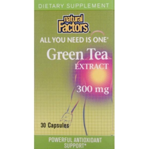 Natural Factors, Green Tea Extract, 300 mg, 30 Capsules (Discontinued Item)