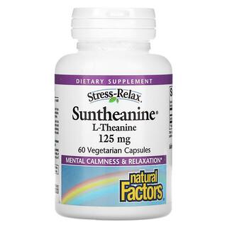 Natural Factors, Stress-Relax, Suntheanine, L-Theanine, 125 mg, 60 Vegetarian Capsules