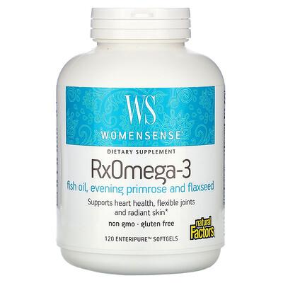 Natural Factors WomenSense, RxOmega-3, 120 мягких таблеток Enteripure